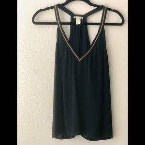 H&M  Conscious olive green top size6